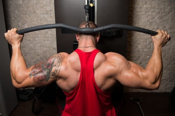 Behind The head Lat pulldown strength training exercises