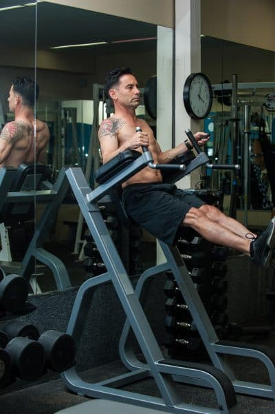 Strength training Exercises with the Roman Chair